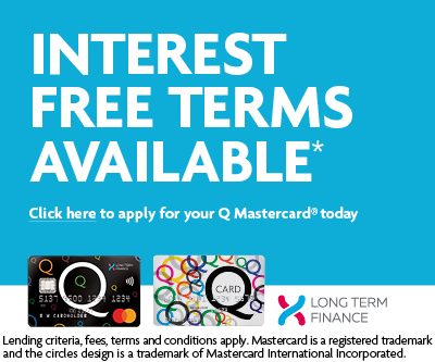 Q Card Interest Free Terms Available link